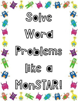 Monster Math Problem Solving Steps