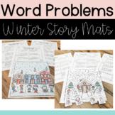 Math Word Problem Story Mats - Winter