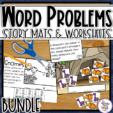 Math Word Problem Story Mats - addition & subtraction within 10