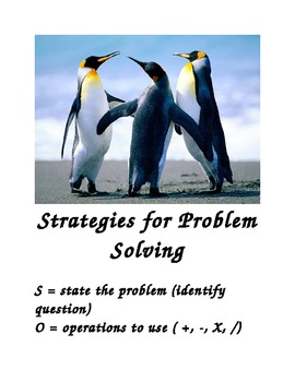 Math Word Problem Strategies Poster