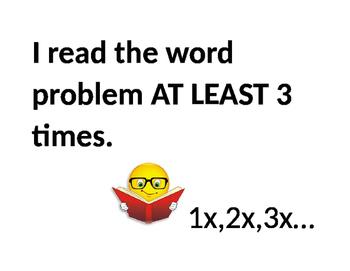Math Word Problem Strategies Posters
