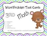 Math Word Problem Task Cards: 3rd Grade - Chevron