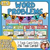 Word Problem Task Cards | 8 Set Math Word Problem Bundle (256 cards!)