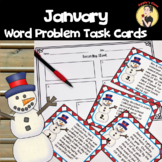 New Year's Math Word Problem Task Cards