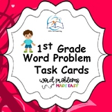 1st Grade Word Problem Task Cards | Story Problems (A Year