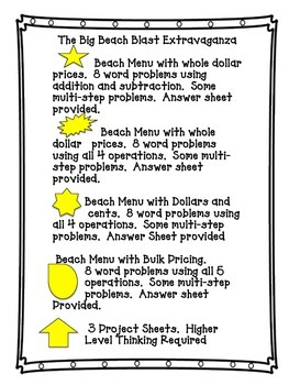 Differentiated Word Problems for Centers