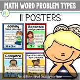 Math Word Problem Types Posters for Addition and Subtraction