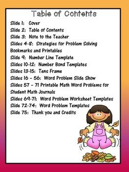 Math Word Problem Unit ~Common Core Aligned for Grade 1