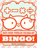 Math Word Problem Vocabulary Bingo