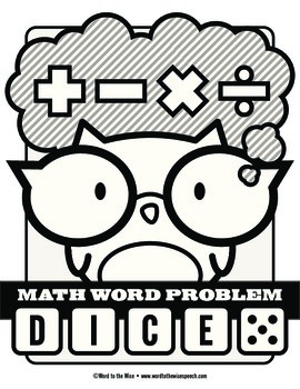 Math Word Problem Vocabulary Dice Game