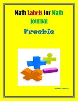Math Word Problem labels FREE