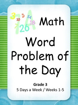 Math Word Problem of the Day Grade 3 SAMPLE