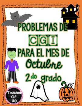 Math Word Problem of the Day {October} 2nd grade Spanish