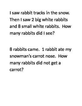 Math Word Problems - 1st grade