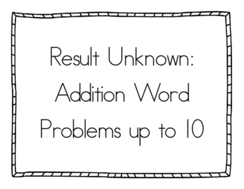 Math Word Problems Bundle