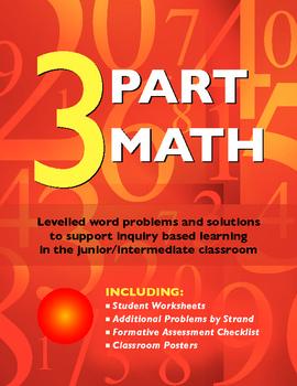 Math Word Problems: 3 Part Math
