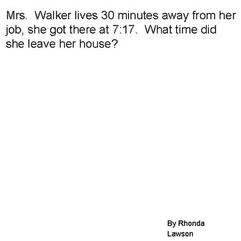 Math Word Problems 3-6