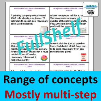 Math Word Problems 4th 5th Grade BUNDLE by FullShelf Resources | TpT