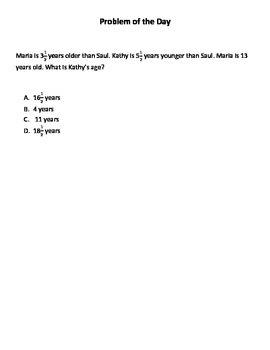 Math Word Problems (4th Grade STAAR) Pack 1--Aligned to the NEW TEKS