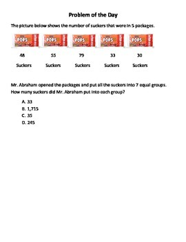 Math Word Problems (4th Grade STAAR) Pack 5 -- ALIGNED TO THE NEW TEKS