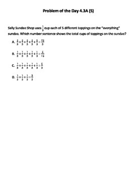 Math Word Problems (4th Grade STAAR) Pack 6 -- Aligned to NEW TEKS