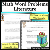 Math Word Problems About Books in Printable or Digital Documents