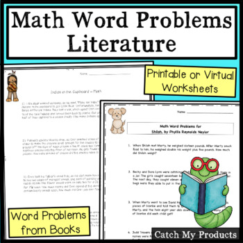 Math Word Problems About Books (To Accompany Novel Studies)