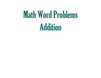 Math Word Problems-Addition