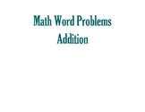 Math Word Problems-Addition