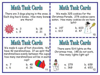 Math Word Problems Addition, Subtraction, Multiplication, and Division