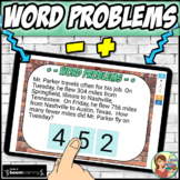 Math Word Problems Addition and Subtraction Boom Cards: Di