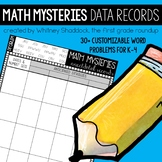 Math Word Problems: Anecdotal Records