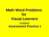 Math Word Problems Assessment practice for Visual Learners