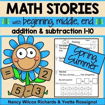 Math Word Problems BUNDLE Addition and Subtraction 1-10  NO PREP