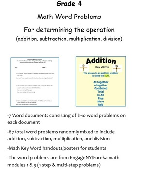 Math Word Problems Bundle! For Close Reading--choosing the operation and solving