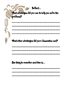 Math Word Problems FALL THEMED