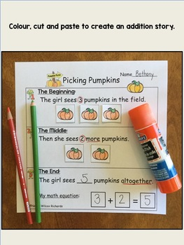 Math Word Problems FREEBIE  Addition and Subtraction 1-10  NO PREP