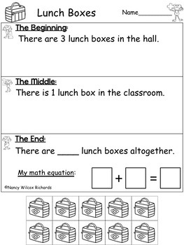 Addition And Subtraction Worksheets For Math Word Problems 1 10 Freebie