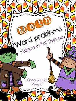 Math Word Problems {Fall/Halloween Themed}