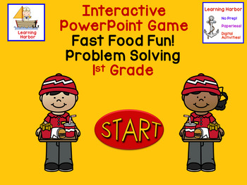 Math Word Problems Fast Food PowerPoint CGI and Common Core Problem Types
