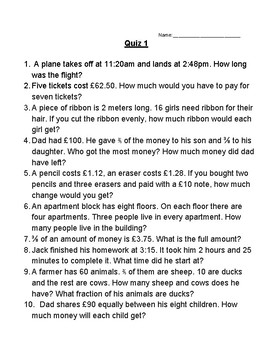 math word problems grade 4 6 by emmabee89 teachers pay teachers. Black Bedroom Furniture Sets. Home Design Ideas