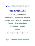 Math Word Problems Grades 7 & 8 - Includes a test!