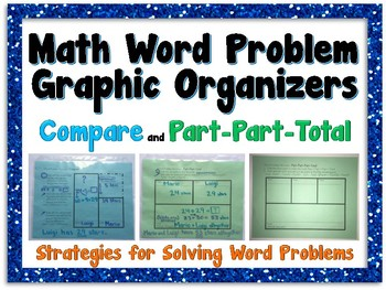 Math Word Problem Graphic Organizers - Part Part Whole & Compare Equations
