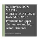 Math Word Problems Intervention: Multiplication II