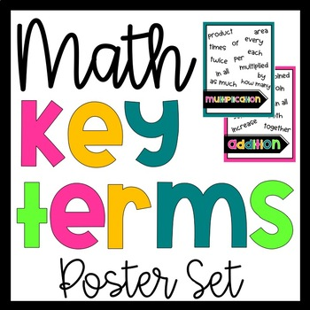 Math Word Problems Key Word Posters