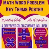 Math Word Problems Key Words Poster Sets