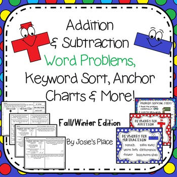 Word Problems, Keyword Sort & More (Fall/Winter) *Choose your own #'s option