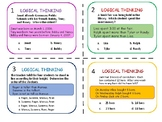Math Word Problems/ Logical Thinking Task Cards