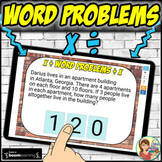 Math Word Problems Multiplication and Division Boom Cards: