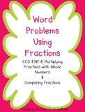 Math Word Problems Multiplying Fractions & Comparing Fractions {Common Core}